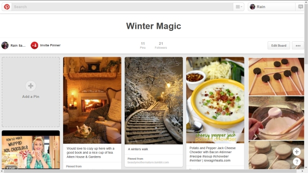 Pinterest Board-Winter Magic
